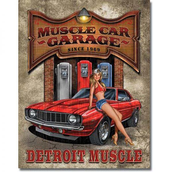Blechschild Muscle Car