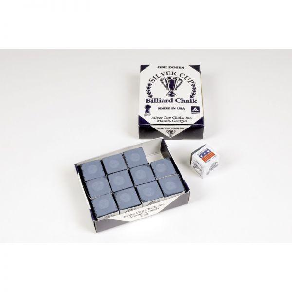 Billard Kreide Silver Cup 12 Stück powder blue