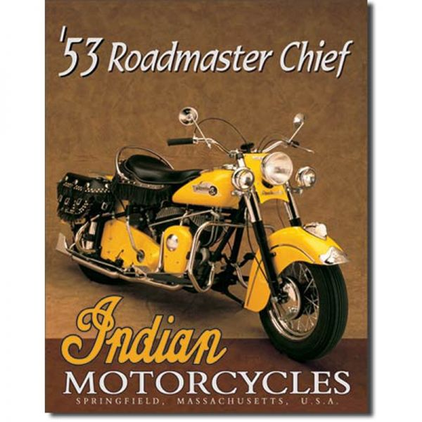 Blechschild Indian Roadmaster