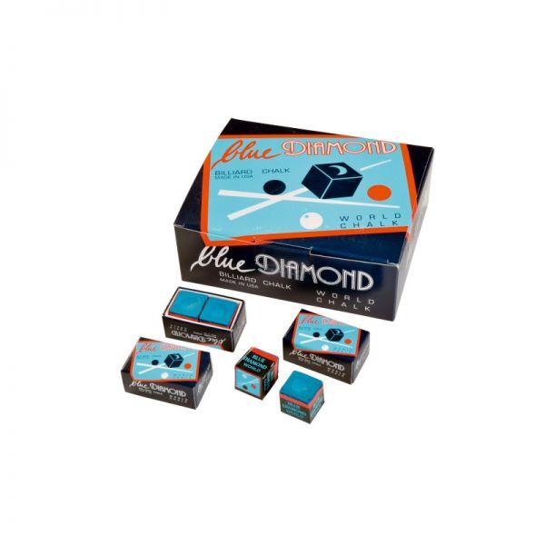 Billard Kreide Blue Diamond Großpack, 25 x 2 Stück