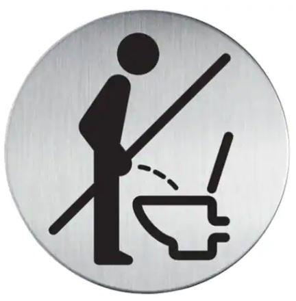 WC Schild für Billardspieler