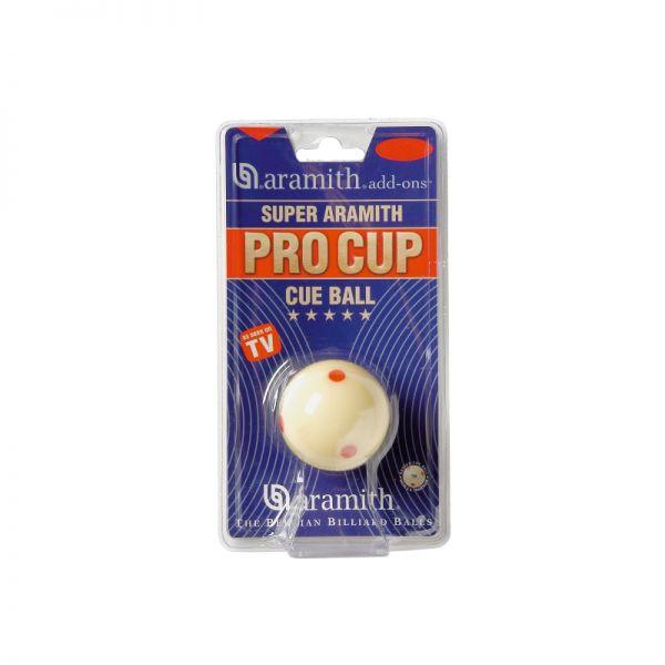 Spielball Aramith Pro Cup Cue Ball TV, für Pool, 57.2 mm