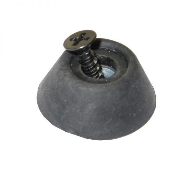 Gummifuß/Bumper für einteilige ECO-Queues mit Schraube