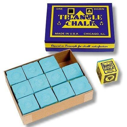 Snooker Kreide Triangel grün/blau 12 Stück