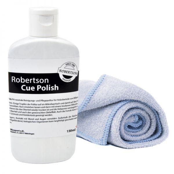 Cue Clean Polish Robertson 150 ml inkl. Mikrofaser-Tuch