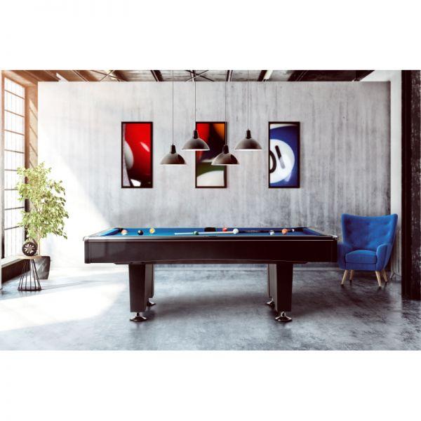 Pool Billard Tisch BLACKPOOL 6, 7, 8, 9 - Fuß Größe