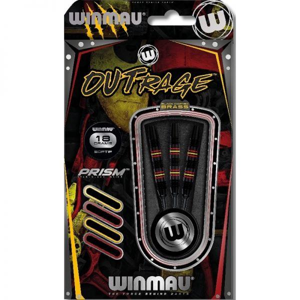Winmau Outrage Brass 18 g Softdart
