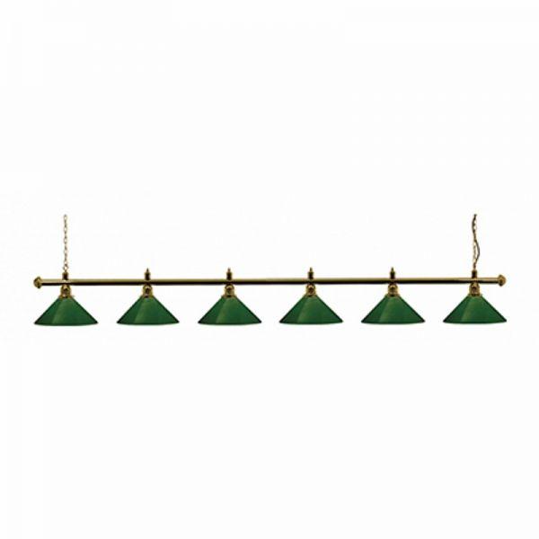 Snookerlampe Messing-grün