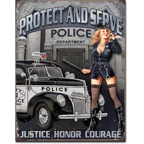 Blechschild Police Departement