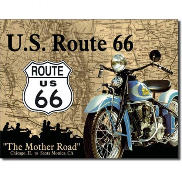 Blechschild Route 66 Mother Road