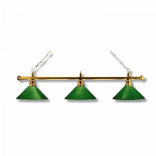 Billardlampe Messing-Grün für Pool oder Snooker