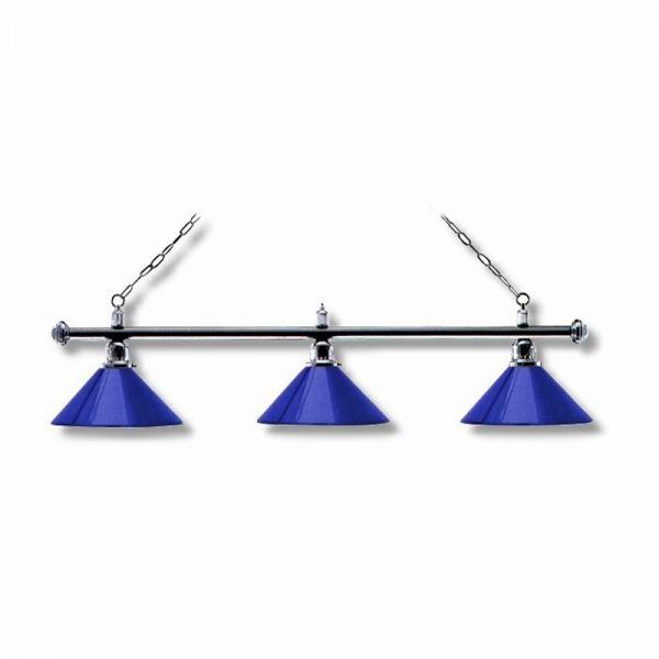 Billardlampe Chrom-Blau