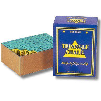 Snooker Kreide Triangel grün/blau 144 St. Großbox