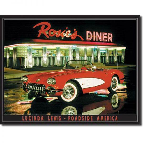 Blechschild Rosie's Diner