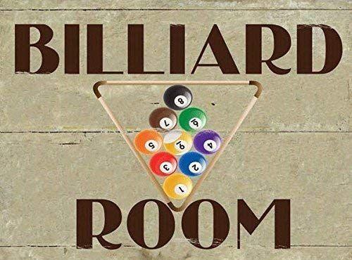 Blechschild Billiard Room